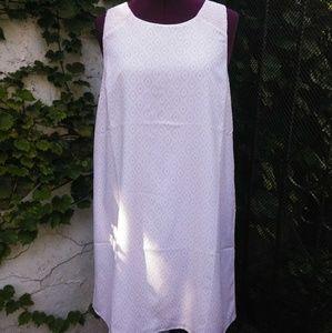 Loft pink sheath sleeveless dress